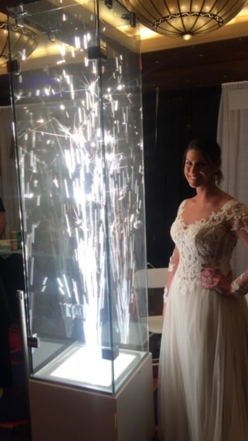 MS Bridal Show Dreamstar with Bride Moment3 - Serpico Pyrotechnics / Fireworks